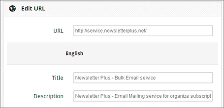 Search engine friendly. Newsletter Plus Software features and main-reasons.